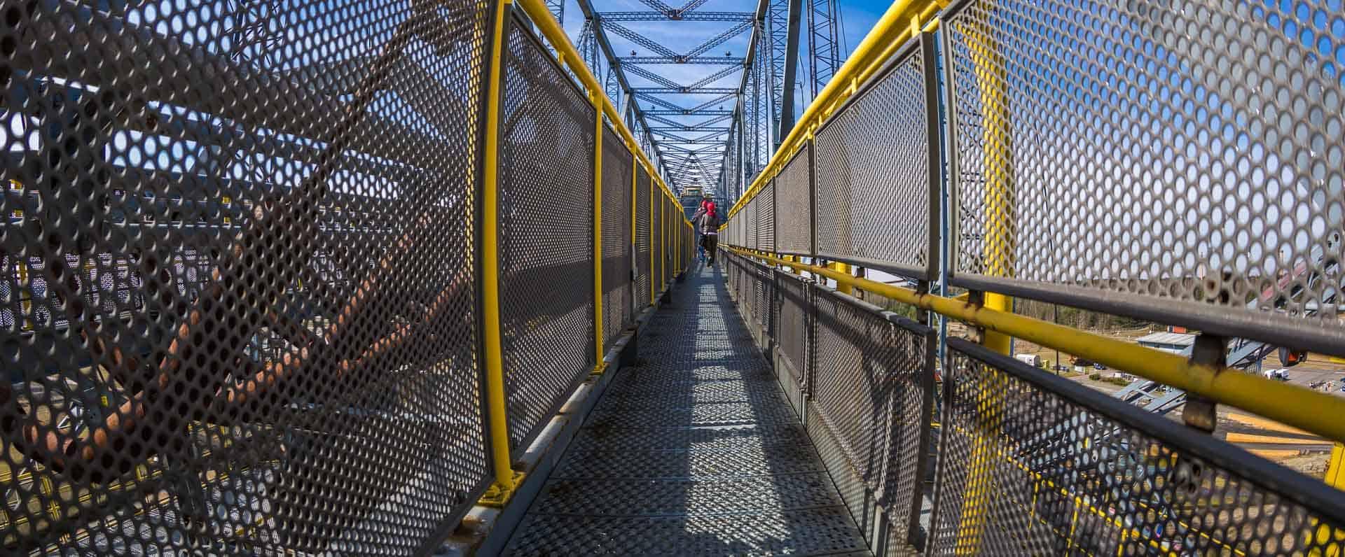Auf der Abraumbrücke F60 in der Lausitz