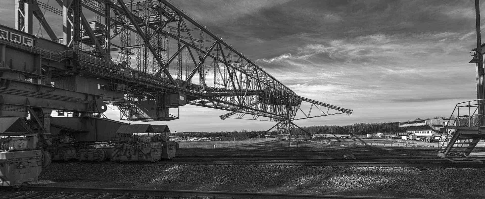 Die Abraumbrücke F60 im Besucherbergwerk in der Lausitz