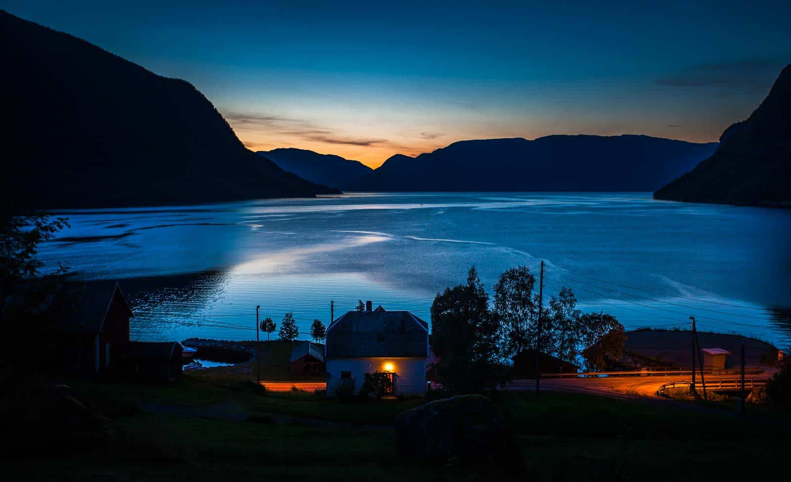 Sonnenuntergang in Norwegen