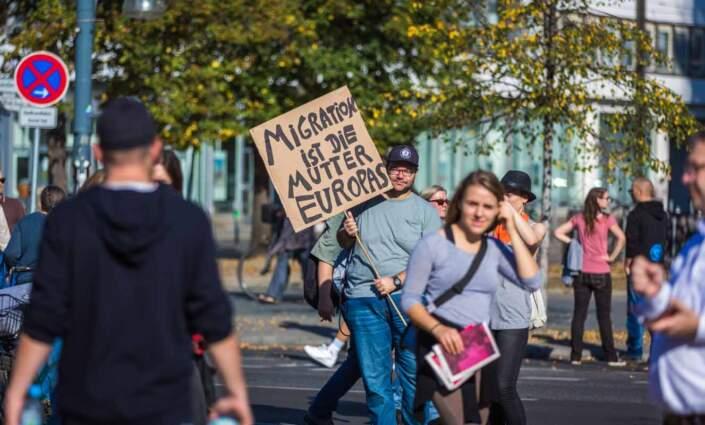 Die Demo #Unteilbar gegen Ausgrenzung und Rassismus.