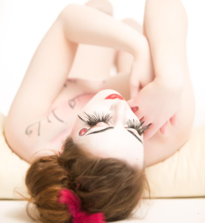 Weiblicher Akt mit Bodypainting