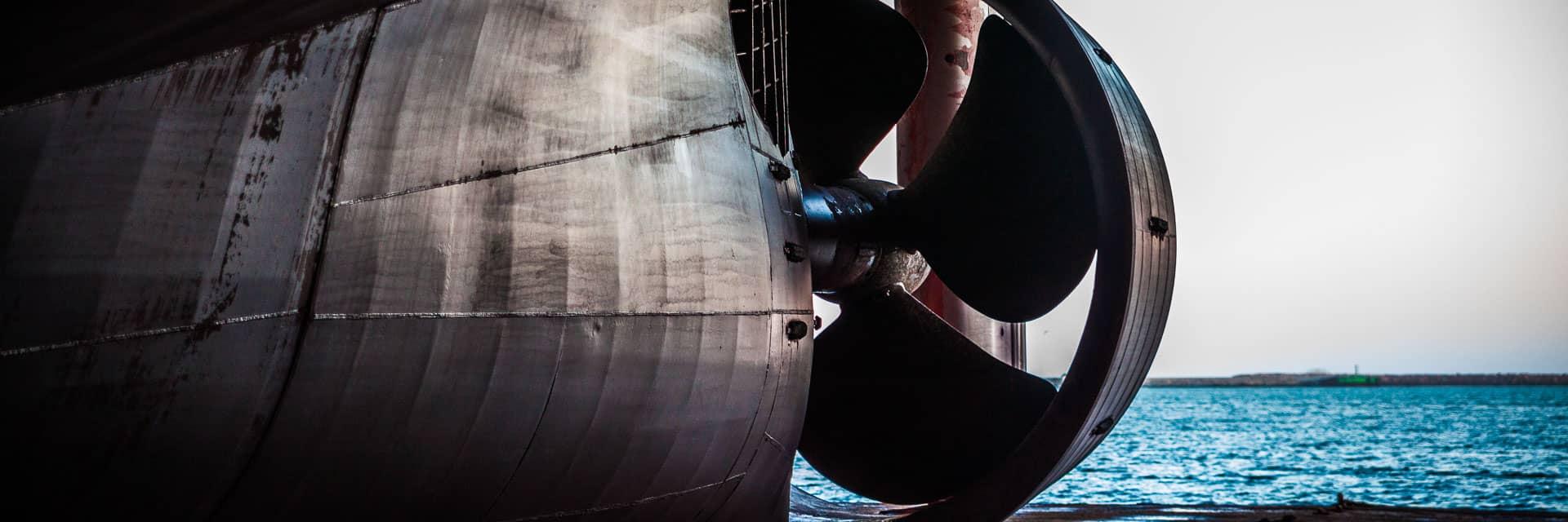 Gigantische Schiffsschraube